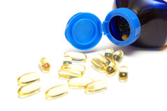 Omega Three Capsules Royalty Free Stock Image