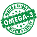 Omega 3 vector stamp. On white background Royalty Free Stock Photo
