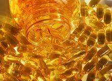 Omega vitamin pills Stock Photo