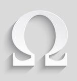 Omega white plastic  symbol Stock Images