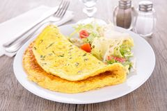 omelet stock afbeelding