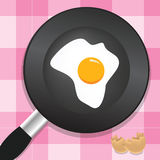 Omelet. Vector illustration of an omelet Stock Photos