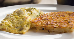 Omelet with artichoke filling Stock Photo