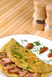 Omelet with bacon Royalty Free Stock Photos
