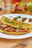 Omelet with bacon Stock Images