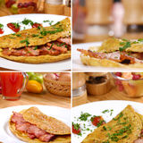 Omelet with bacon Royalty Free Stock Photo