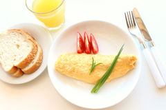 Omelet breakfast Stock Image