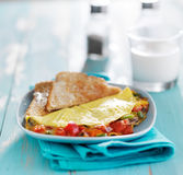 Omelet breakfast dish Stock Photos