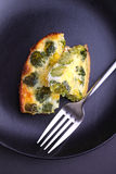 Omelet with broccoli Stock Image