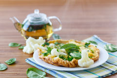 Omelet with cauliflower Stock Image