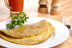 Omelet with cheese Stock Photography