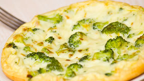 Omelet with cheese and broccoli Royalty Free Stock Photo