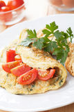 Omelet with cherry tomato Stock Photo