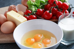 Omelet Cooking Stock Photography