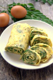 Omelet Egg Rolls Royalty Free Stock Images