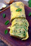 Omelet Egg Rolls Royalty Free Stock Photo