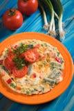 Omelet, fried chicken eggs Stock Image
