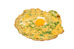 Omelet fried eggs with Green Onion Royalty Free Stock Photos