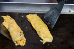 Omelet in a frypan Royalty Free Stock Image