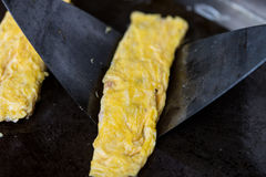 Omelet in a frypan Royalty Free Stock Photography