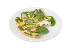 Omelet with green bean Royalty Free Stock Photos