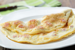 Omelet with ham Royalty Free Stock Image