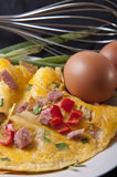 Omelet with ham Royalty Free Stock Photo