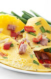 Omelet with ham Royalty Free Stock Images