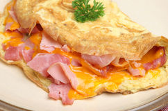 Omelet with Ham & Cheese Royalty Free Stock Photos