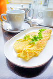 Omelet with ham Stock Images