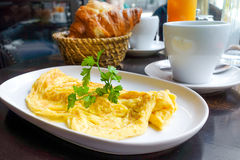 Omelet with ham Royalty Free Stock Photos