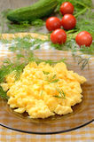 Omelet with herbs and vegetables Royalty Free Stock Photos