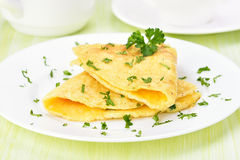 Omelet with herbs Stock Image