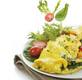 Omelet With Lettuce And Vegetables Stock Images
