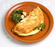 Omelet met Ham en Kaas Stock Afbeeldingen