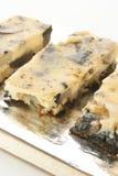 Omelet met paddestoel en de lenteui Stock Foto