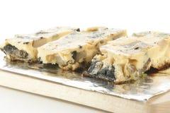 Omelet met paddestoel en de lenteui Royalty-vrije Stock Foto's