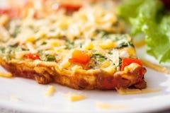 Omelet met plantaardige salade Royalty-vrije Stock Afbeeldingen