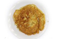 Omelet met Rode miereneieren: De rode miereneieren zijn gekookt in types van Thais voedsel royalty-vrije stock afbeelding