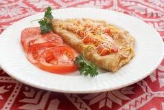 Omelet met tomaten Royalty-vrije Stock Foto