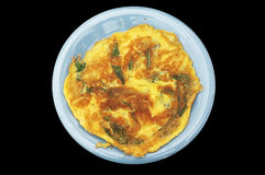 Omelet with mix vegetable Stock Images