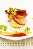 Omelet muffin with bacon Royalty Free Stock Photos