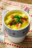 Omelet in a  mug prepared in microwave Stock Photos
