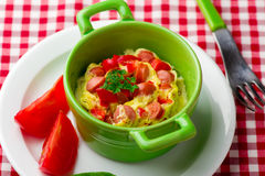 Omelet in a  mug prepared in microwave Royalty Free Stock Image