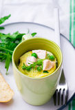 Omelet in a  mug prepared in microwave Royalty Free Stock Images