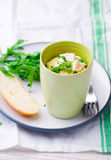 Omelet in a  mug prepared in microwave Royalty Free Stock Photography