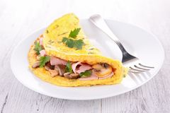 Omelet with mushroom Royalty Free Stock Photo