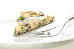 Omelet with mushroom and spring onion Royalty Free Stock Photos