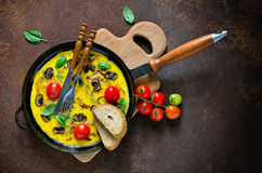 Omelet with mushrooms Stock Photography