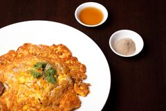 Omelet. Te  eggs breakfast dish Royalty Free Stock Photography